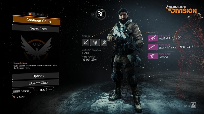 TheDivision start