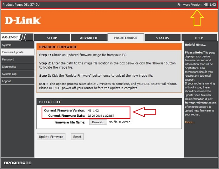 dlink-firmware-version
