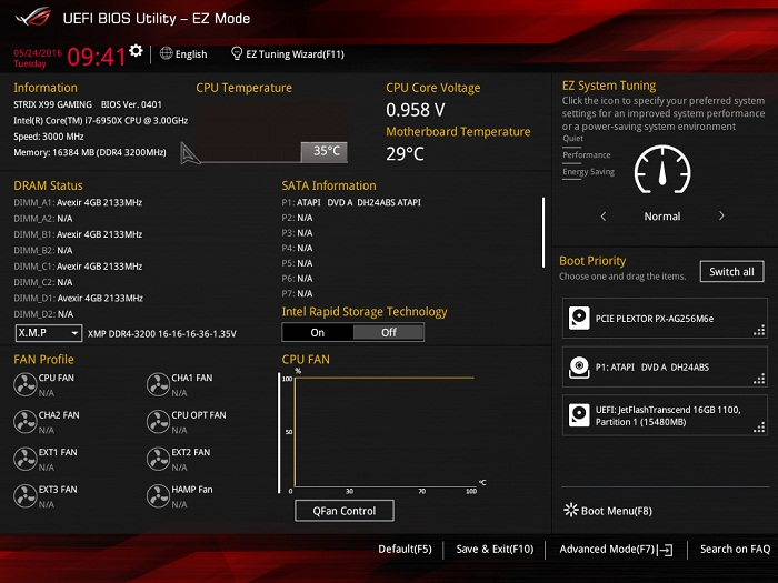 asus rog strix x99 gaming bios 1