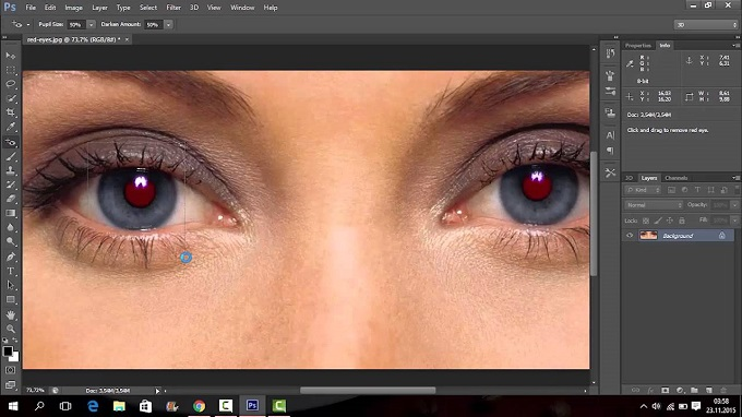 Photoshop Red-Eye Tool