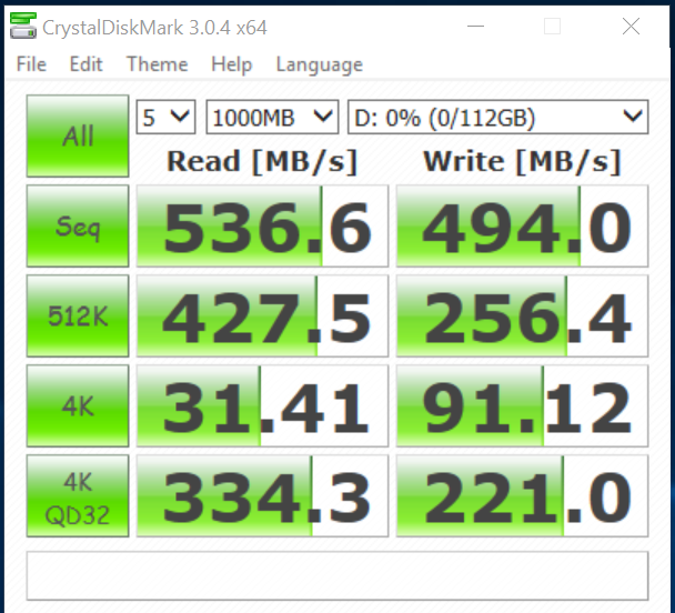 ZOTAC ZTSSD A5P 120G as ssd crystall disk