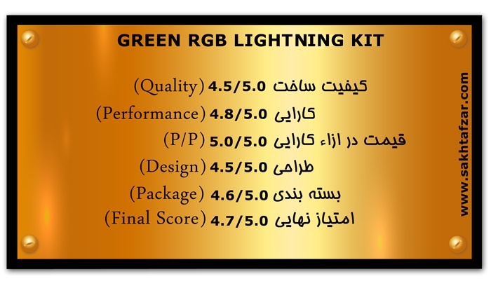GREEN RGB LIGHTING KIT mark 1