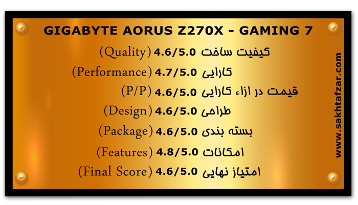 GIGABYTE AORUS Z270X GAMING 7 mark