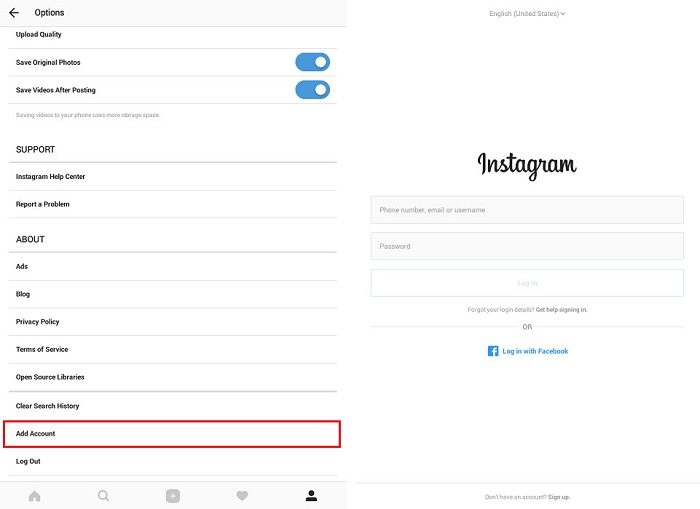 instagram-options-screen-add-account