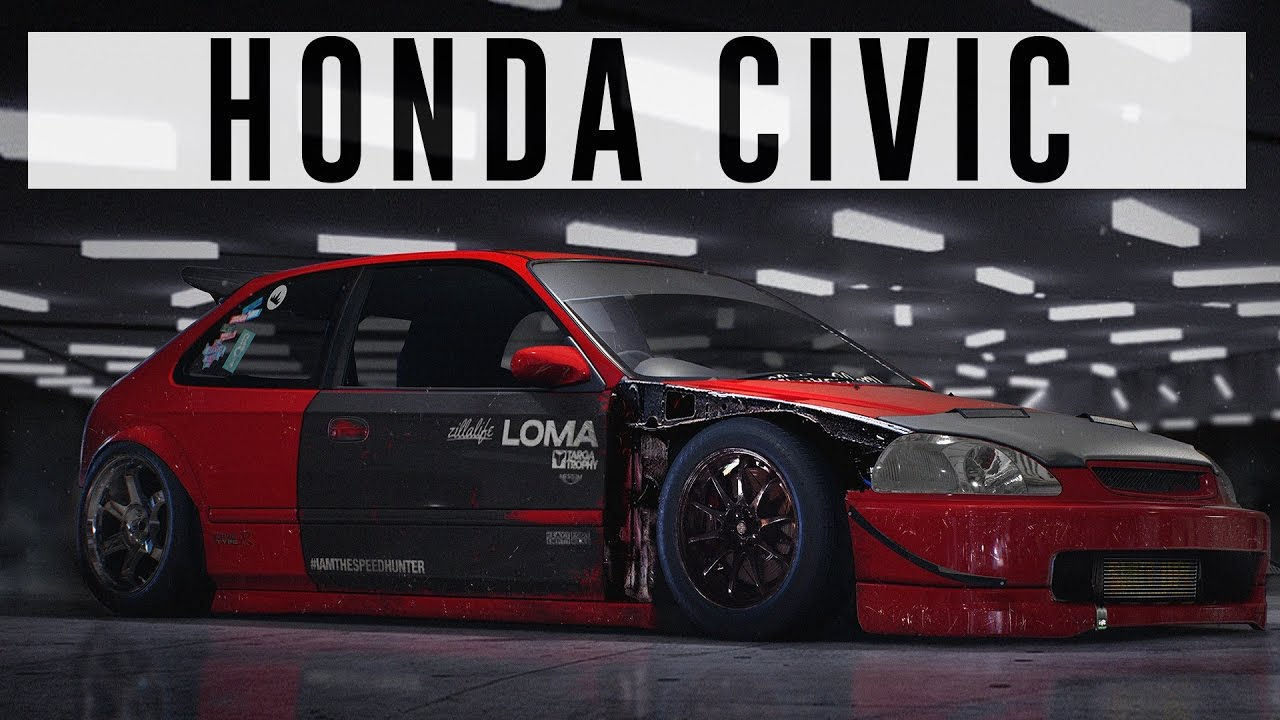 Honda Civic ( NFS15 + Photoshop Speedart )