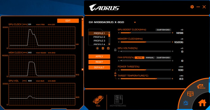 aorus engine 7 monitoring
