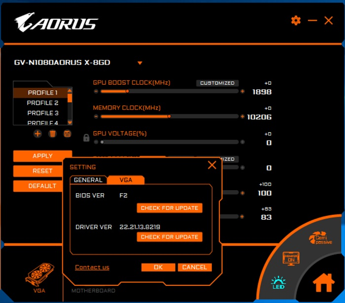 aorus engine 8 bios