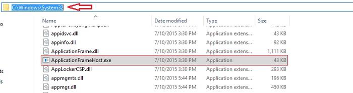 Application Frame Host