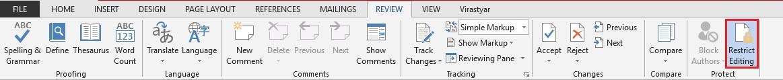 آموزش نحوه محافظت از ویرایش بخشهای مورد نظر متن اسناد توسط مایکروسافت ورد (Word)