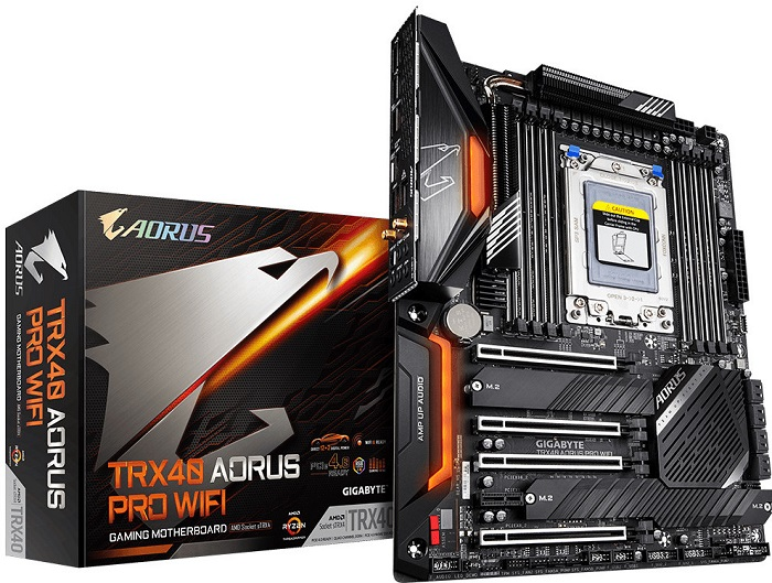عرضه مادربردهای سری TRX40 AORUS کمپانی گیگابایت به بازار آغاز شد