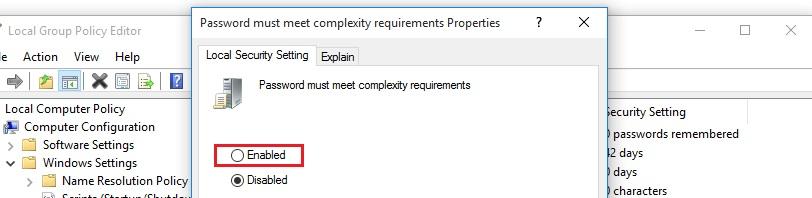 آموزش نحوه تعیین محدودیت تعداد کاراکترهای رمز عبور رایانه در سیستمعامل ویندوز