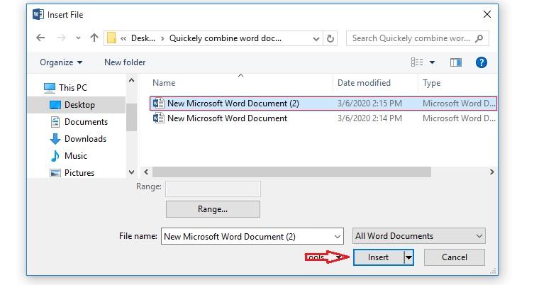 آموزش نحوه ترکیب دو فایل ورد (Word) با یکدیگر در کوتاهترین زمان ممکن