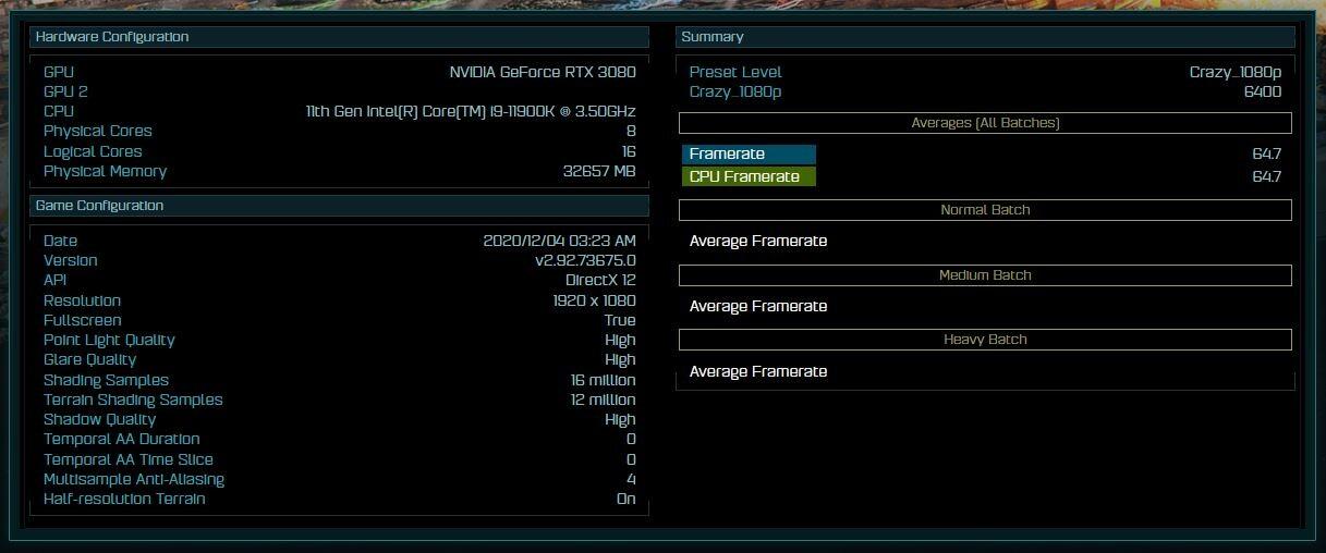 نتایج کارایی پردازنده Core i9-10900K در بنچمارک عنوان AotS فاش شد