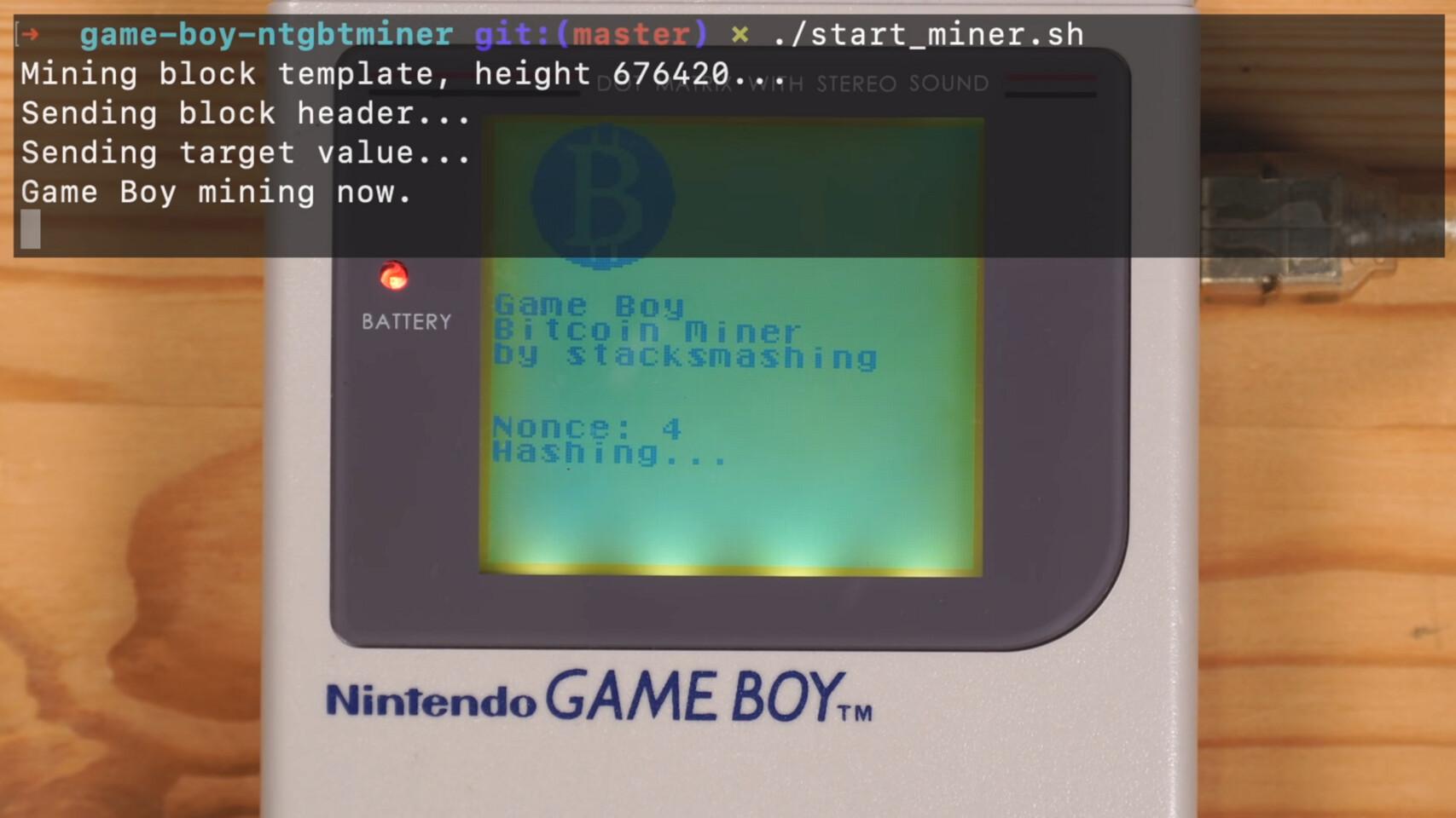 ماین بیتکوین با استفاده از کنسول 32 ساله Game Boy کمپانی نینتندو!