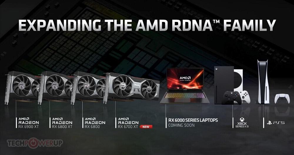 پردازشگرهای گرافیکی قابل حمل سری RX 6000 بهزودی روانه بازار میشوند
