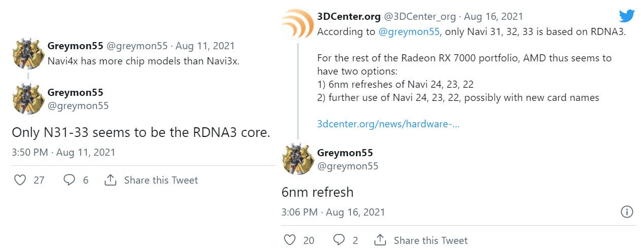 احتمال عرضه کارتهای گرافیک سری Radeon 7000 بر مبنای معماریهای RDNA2 و RDNA3