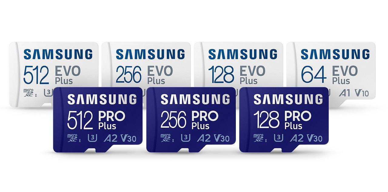 کمپانی سامسونگ از کارتهای حافظه حرفهای و سریع PRO Plus و EVO Plus رونمایی کرد